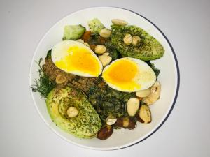 Avocado noten salade