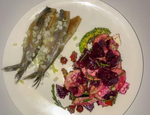Bietjes salade met haring