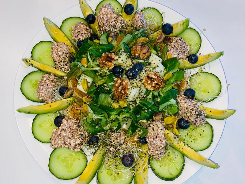 De gezonde huid van binnenuit salade