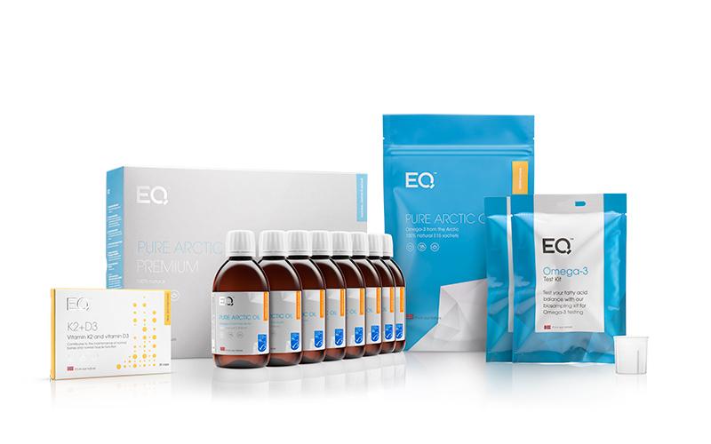 Eqology visolie kopen en bestellen kit orange 6 maanden met 2 vingerpriktesten