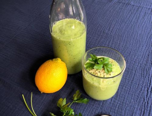 Groene avocado smoothie