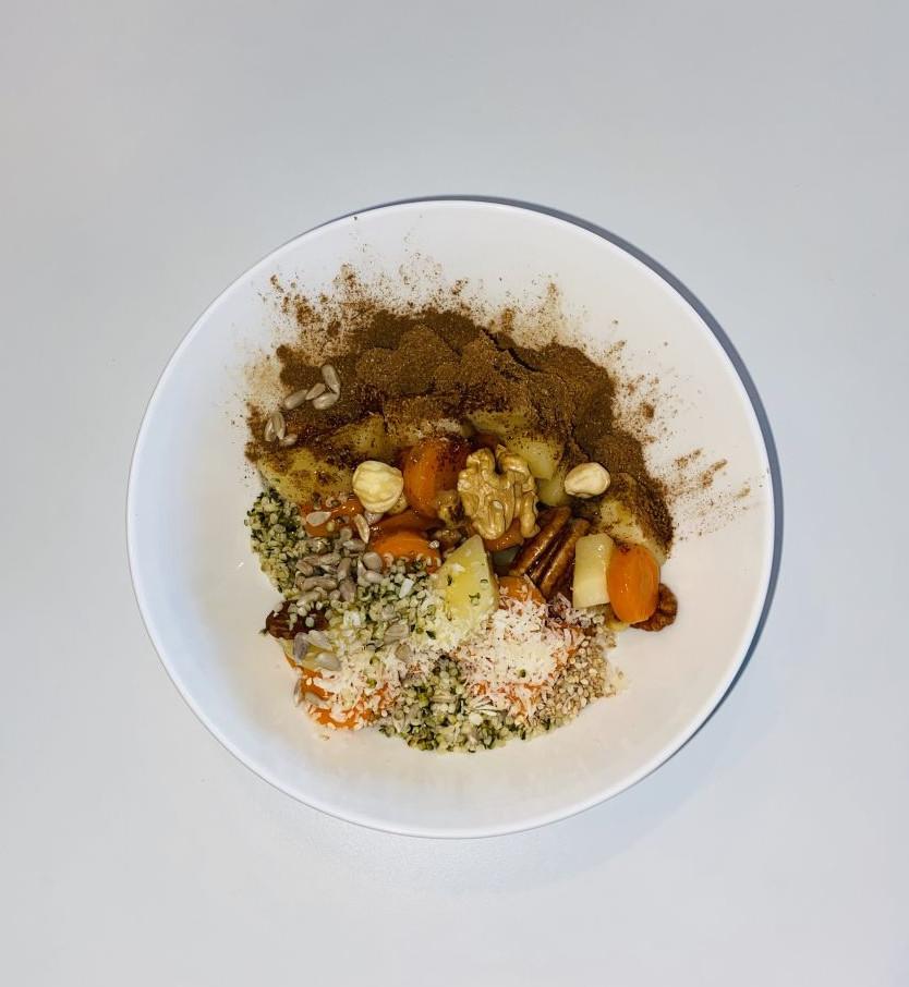 Heerlijk zoet vezelrijk groenten ontbijt