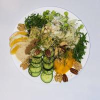 Heerlijke salade met zeekraal