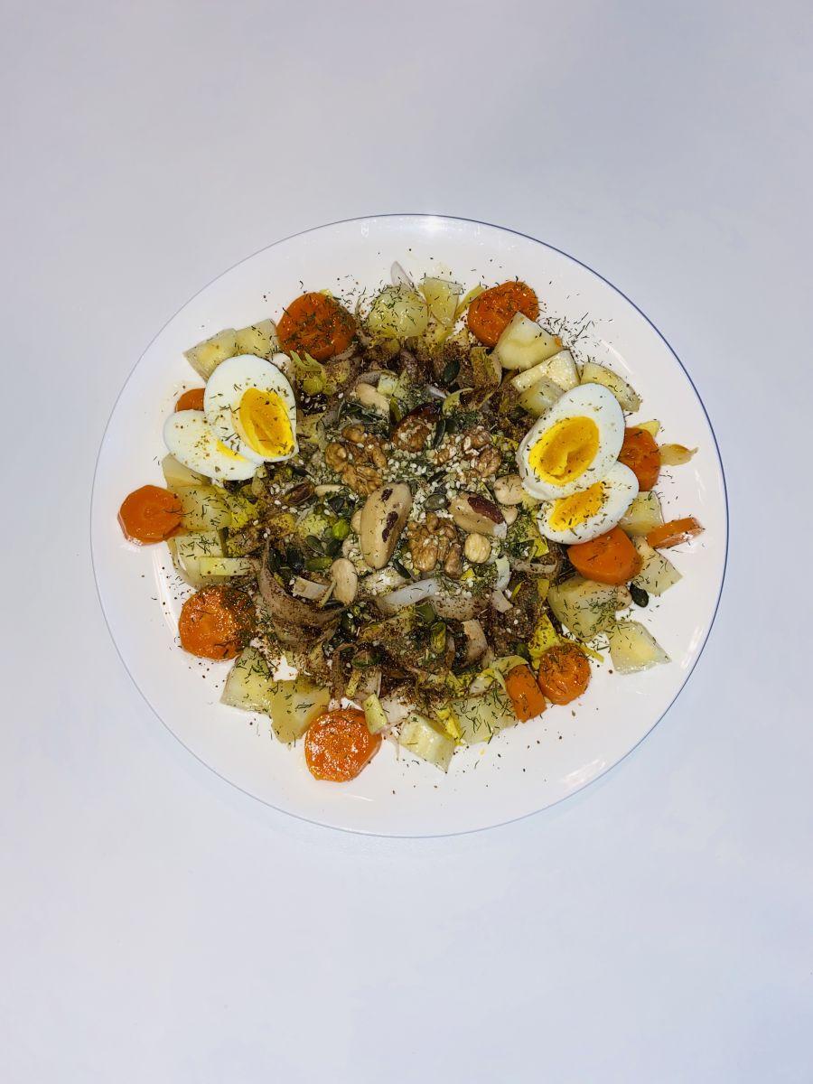 Ontbijt salade met 20 gezonde ingrediënten