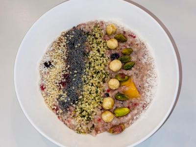 Overnight oats met fruit noten en zaden