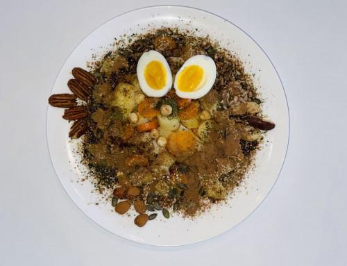 Pastinaak wortel noten pitten zaden ontbijt