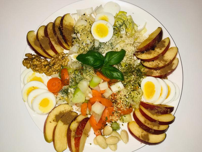 Salade met warme groenten