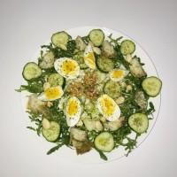 Salade met rucola en artisjok