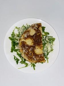 Tonijn omelet met rucola