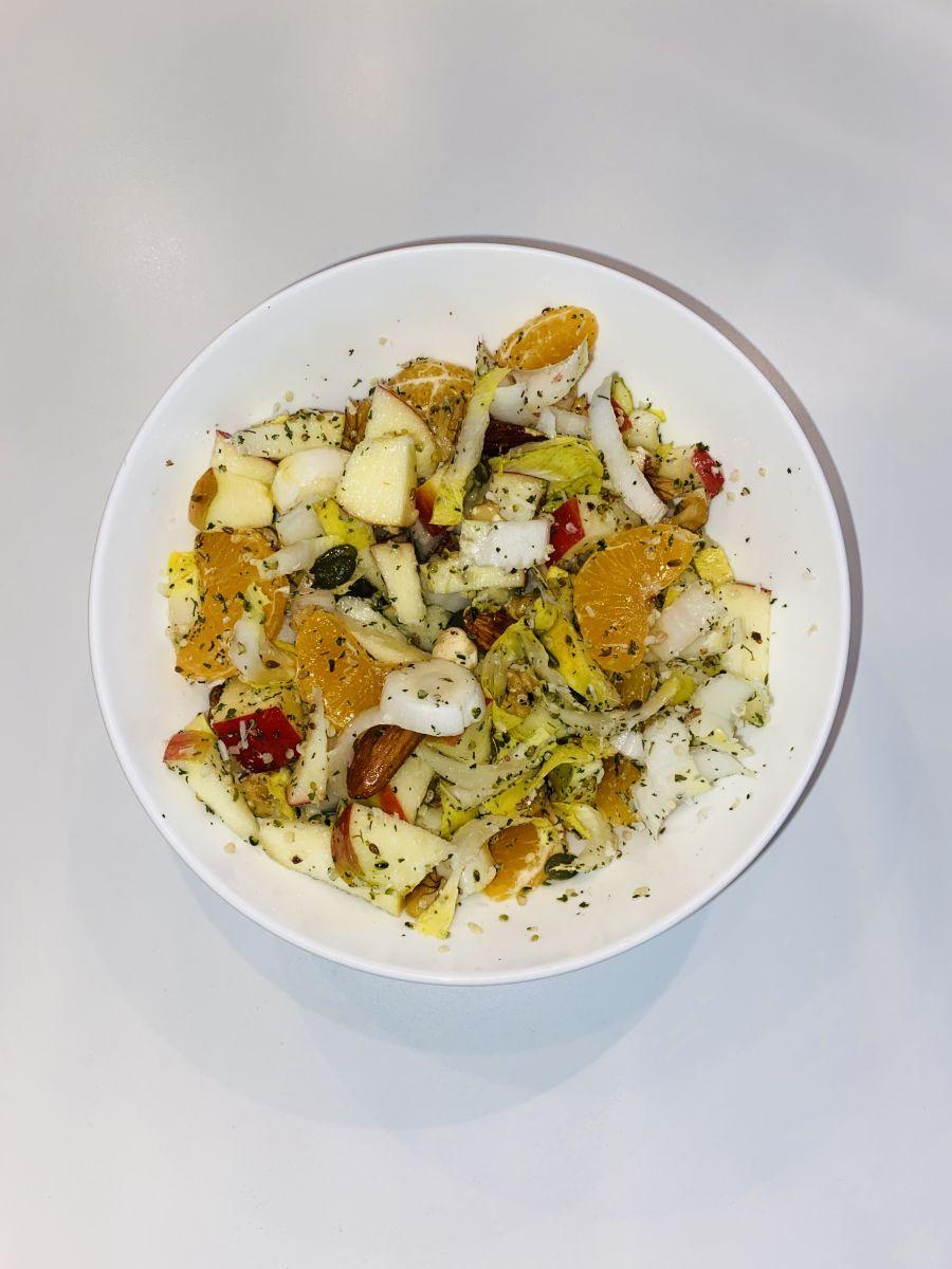 Witlof salade met mandarijn en appel