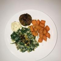 Worteltjes met zeropasta en duitse biefstuk